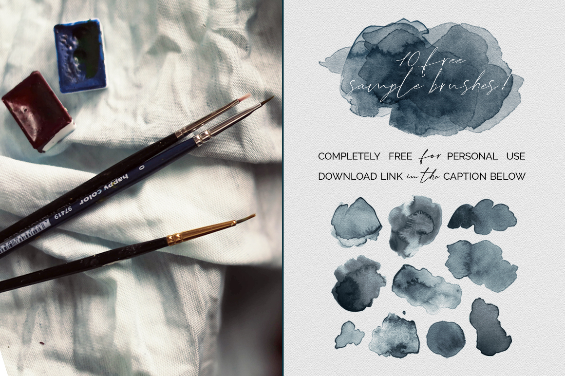 Watercolour Blooms: 150 Stamp Brushes for Photoshop
