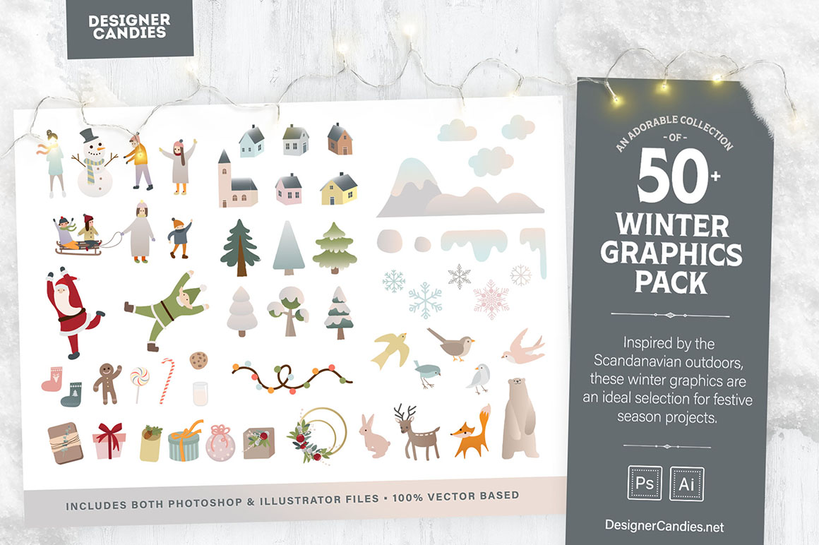 Winter Illustrations & Graphics Collection