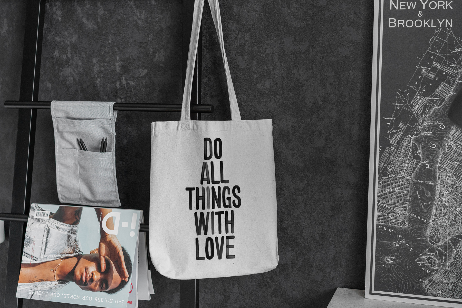 Canvas Tote Bag Mock-Up Lifestyle