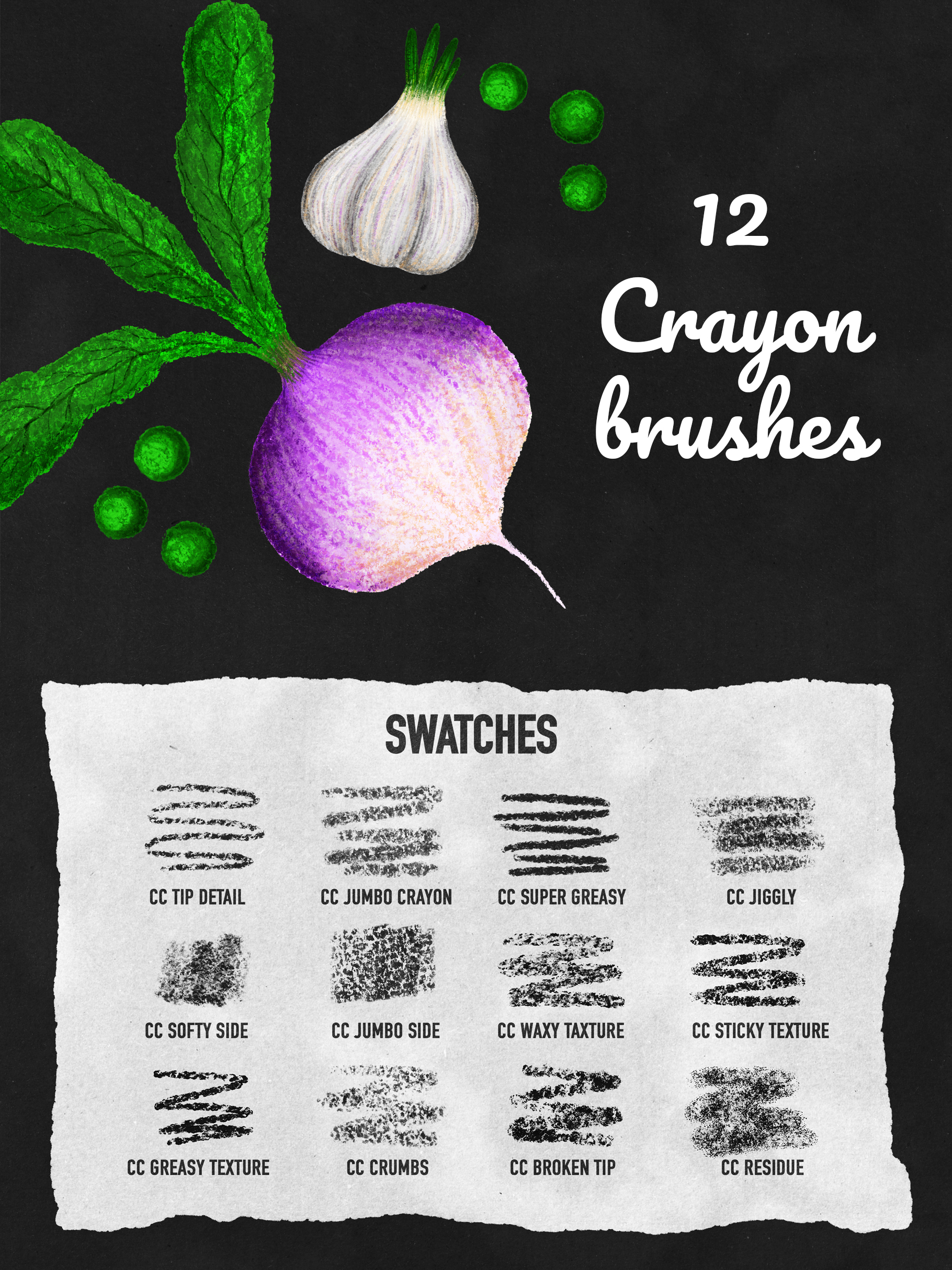 Crayon Brushes for Procreate 5
