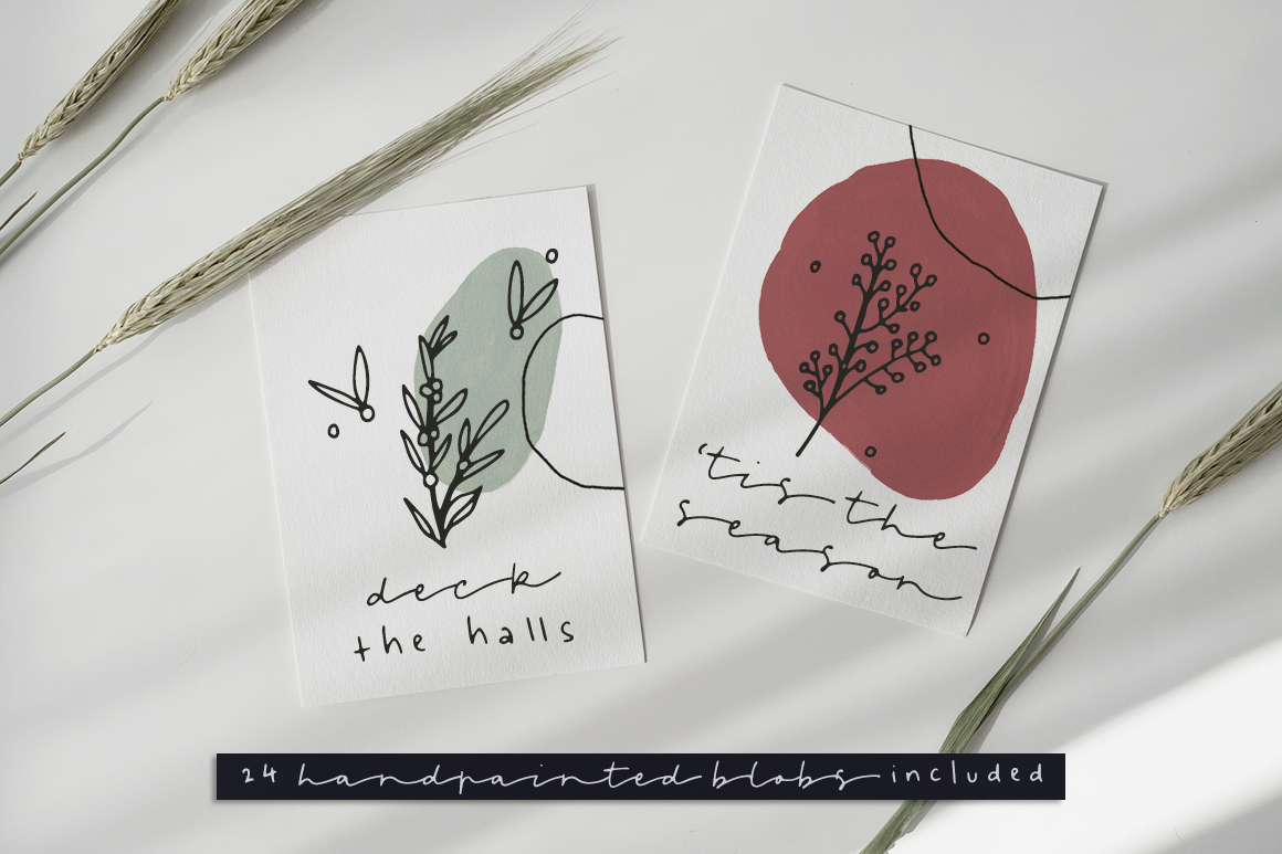 Leaves and Twigs Font Trio and Extras