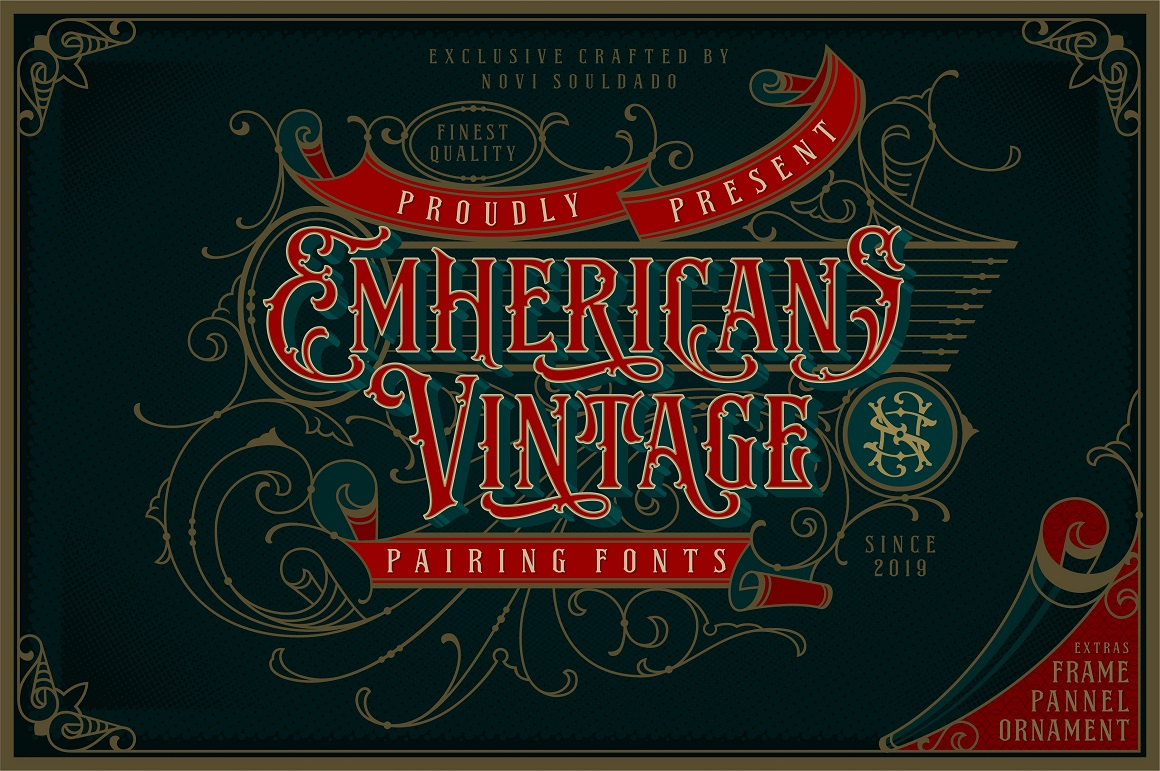 NS Emhericans Vintage Pairing Fonts