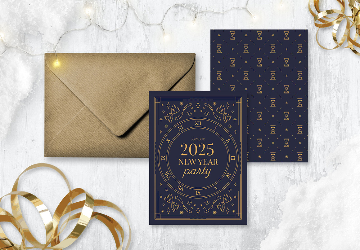 Ornate NYE Flyer & Postcard Templates