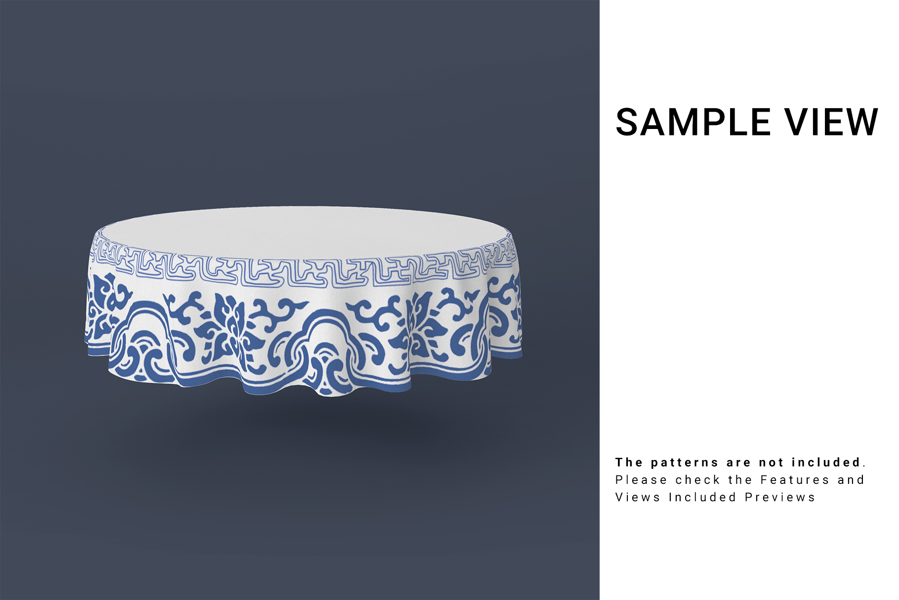 Round Tablecloth Mockup