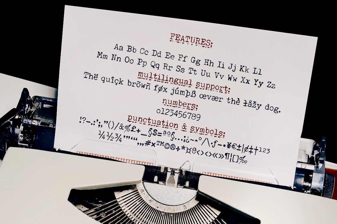 Secretary Typewriter Font and Texture Pack