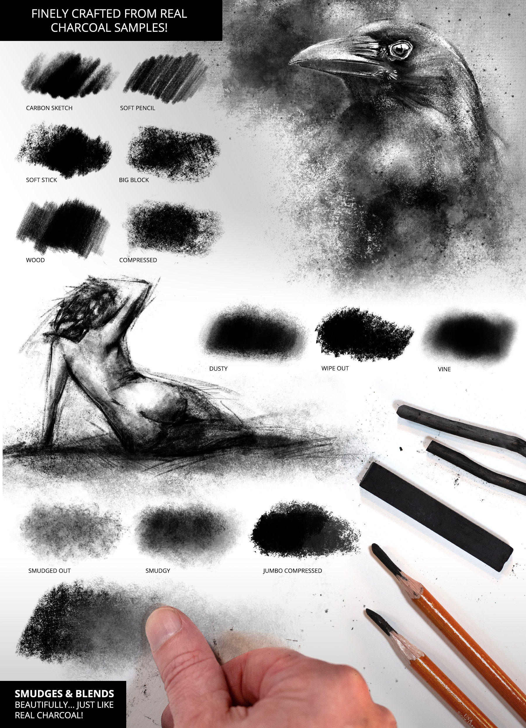 Ultimate Brush Toolbox - Charcoal Brushes
