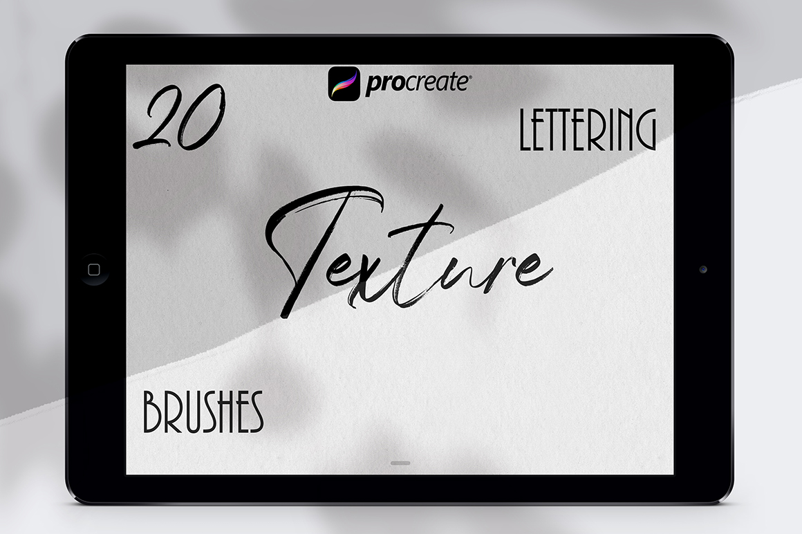 Download Texture Lettering Set for Procreate - Design Cuts