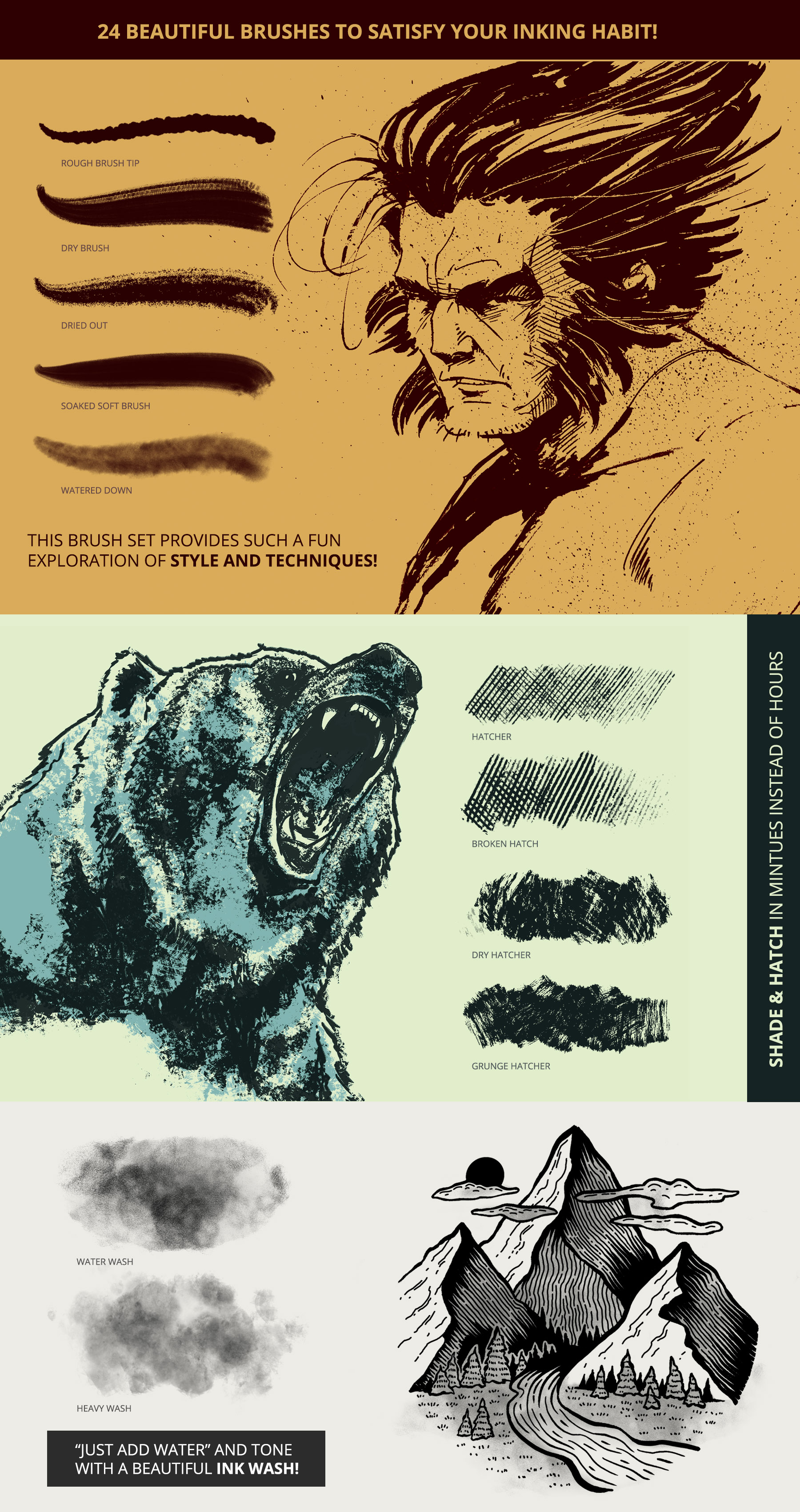 Ultimate Brush Toolbox - Ink Brushes
