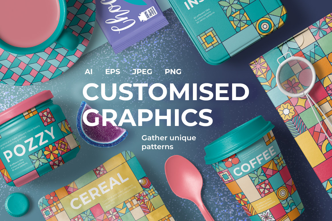Customised Graphics Square Patterns
