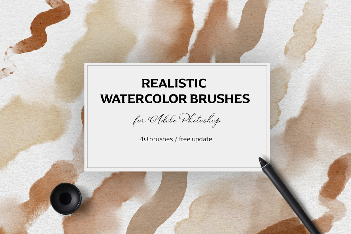 Realistic Watercolor Brushes - PS