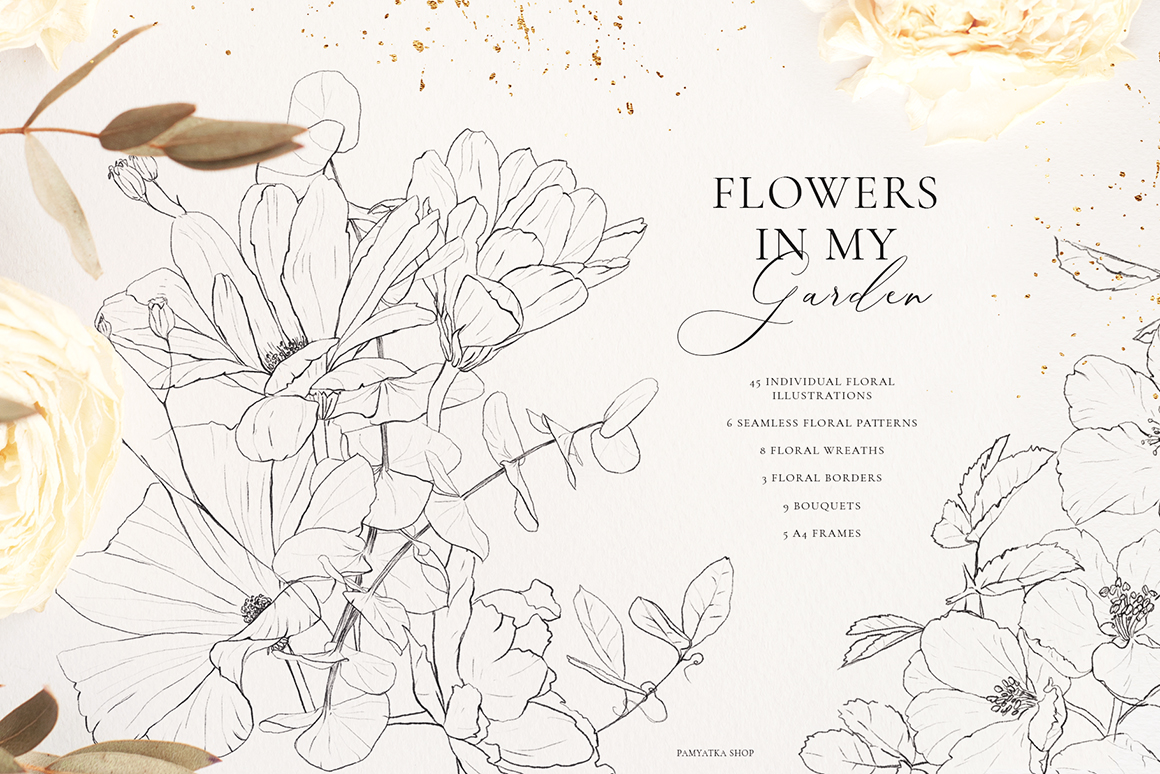 Wildflowers - Pencil Sketch Collection