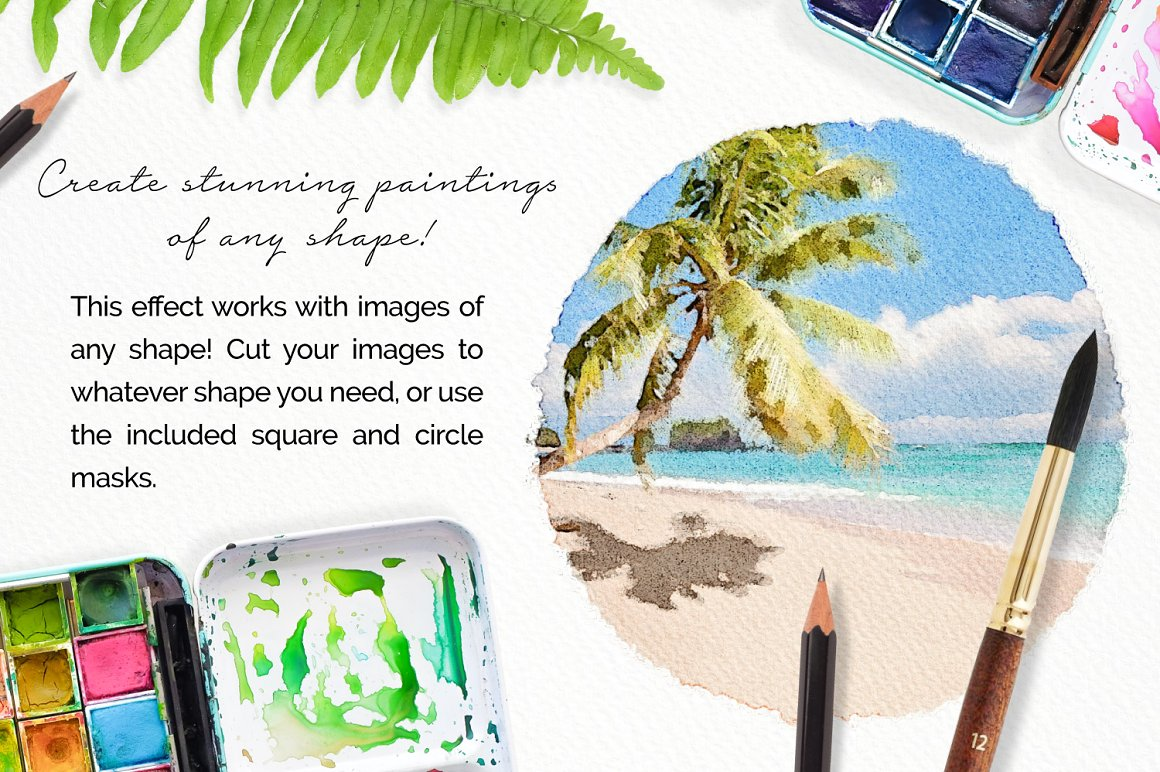 Realistic Photoshop Watercolor Effect