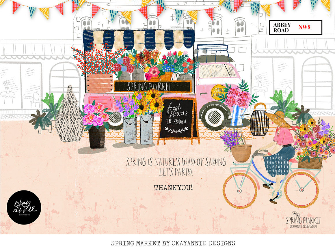 Spring Market Procreate Brushes and Stamps