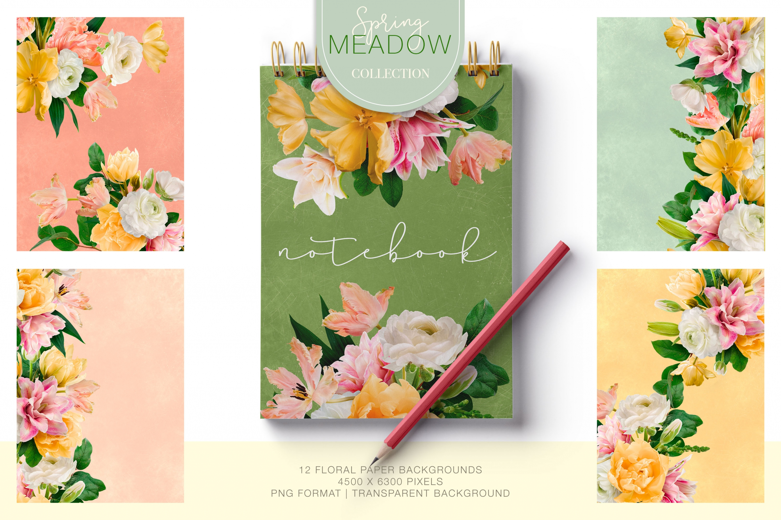 Meadow Floral Clipart Collection