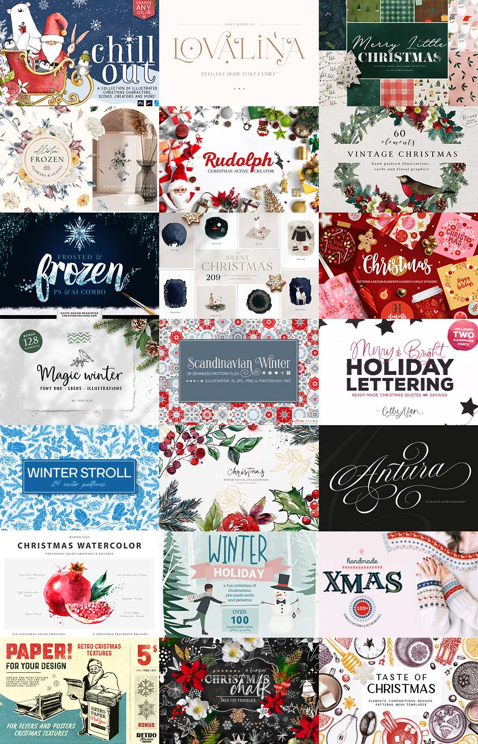 Design Cuts Latest Bundle - The Ultimate Festive Toolkit for Designers