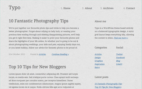Chris Spooner WordPress Theme