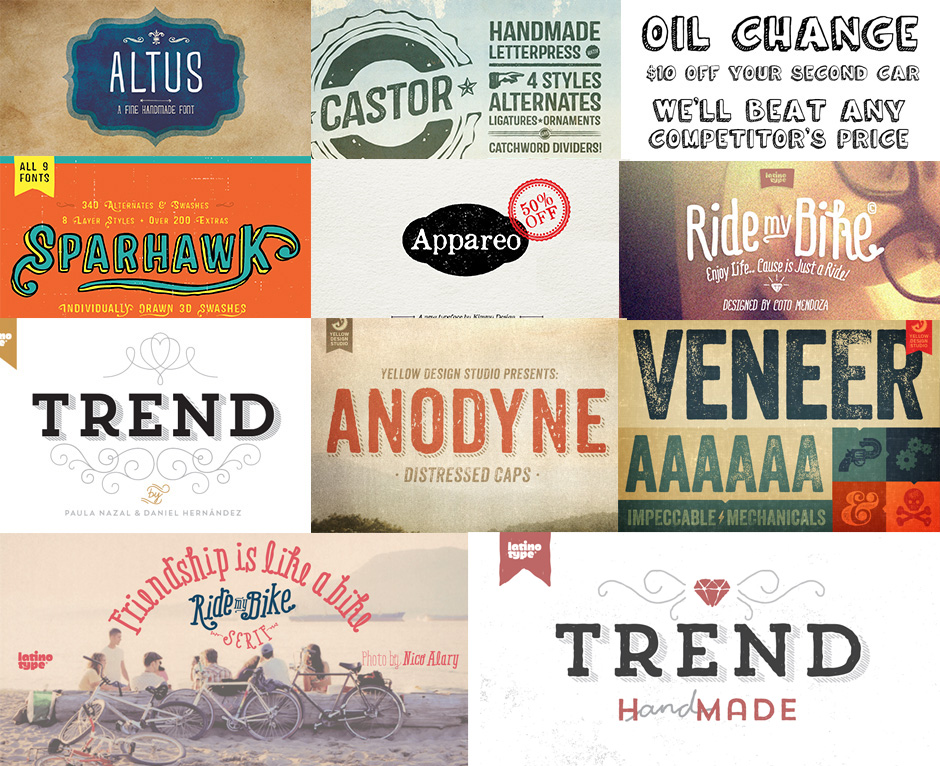 Huge Creative Font Bundle
