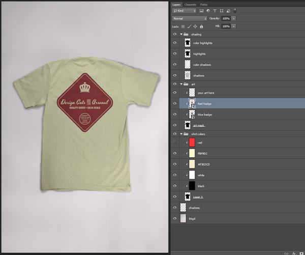 T-Shirt Mockup Template Badge Tutorial