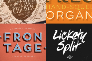 The Inspirational Creative Font Collection (Includes Web Fonts)