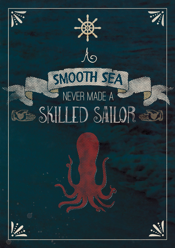 Nautical Quote Poster Tutorial
