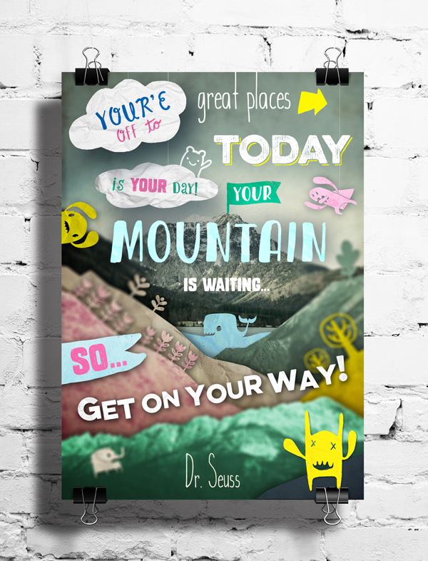Textured Inspirational Quote Collage Tutorial