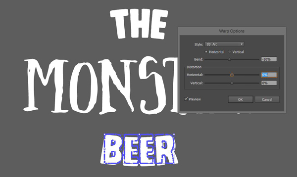 Massive Artistic Font Bundle beer label tutorial