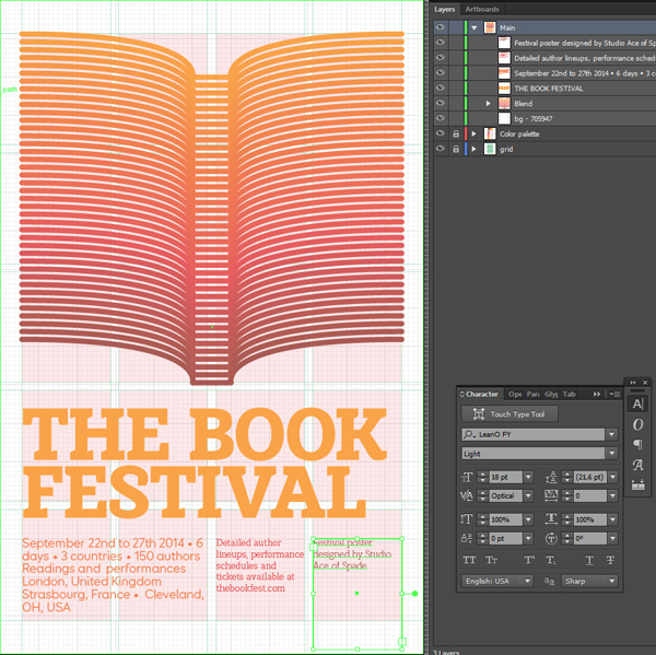 Typographic poster design tutorial