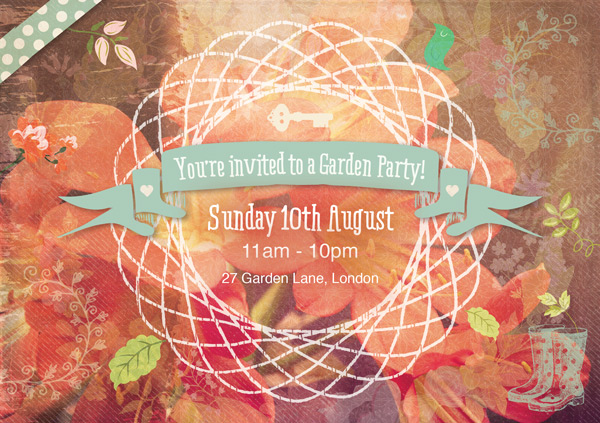 Vector Garden Party Invite Tutorial