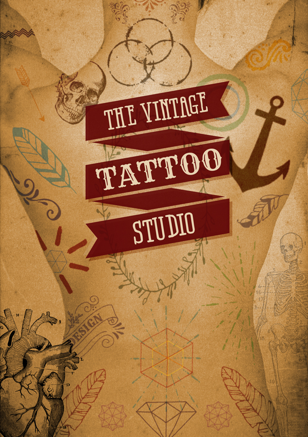 Vintage Tattoo Vectors Tutorial