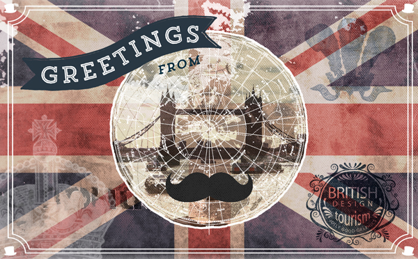 Vintage London Postcard Design Tutorial